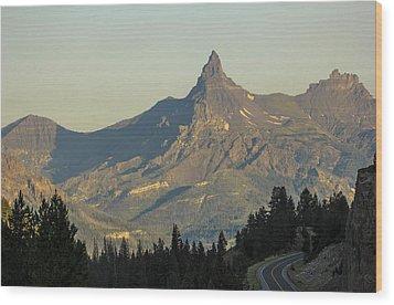 Pilot Peak Wood Print