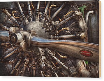 Pilot - Plane - Engines At The Ready  Wood Print by Mike Savad