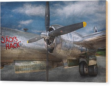 Pilot - Plane - The B-29 Superfortress Wood Print by Mike Savad