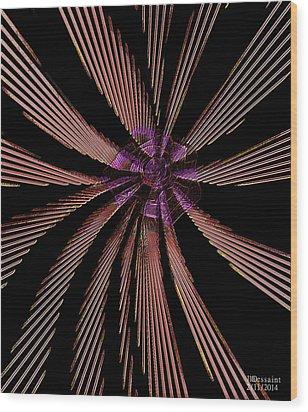 Pin Wheel  Wood Print by James Dessaint