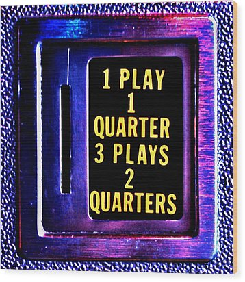 Pinball Pricing Wood Print by Benjamin Yeager