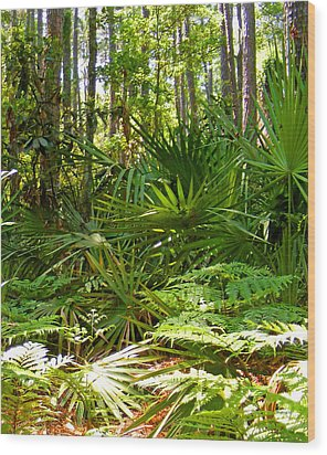 Pine And Palmetto Woods Filtered Wood Print