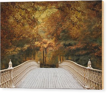 Wood Print featuring the photograph Pine Bank Autumn by Jessica Jenney