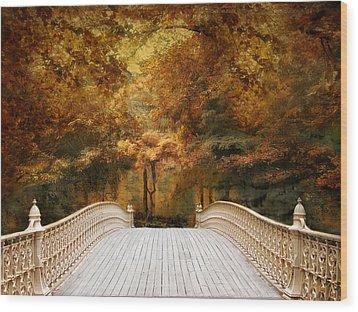 Pine Bank Autumn Wood Print