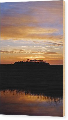 Wood Print featuring the photograph Pine Island Sunset by Daniel Woodrum