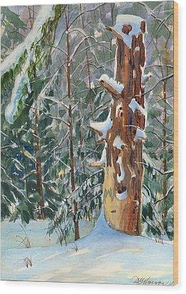 Pine Sentinel Wood Print by David Gilmore