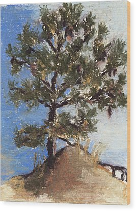 Pine Tree Wood Print by Cristel Mol-Dellepoort