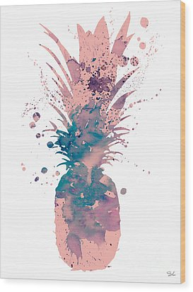 Pineapple 3 Wood Print by Luke and Slavi