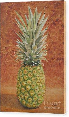 Pineapple  Wood Print by Jimmie Bartlett