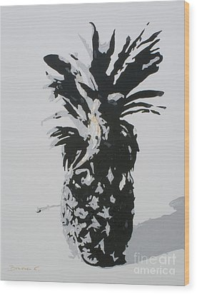Pineapple Wood Print by Katharina Filus