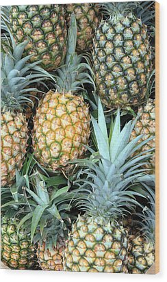 Wood Print featuring the photograph Pineapple Paradise by Karen Nicholson