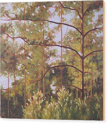Pines Wood Print by Carlynne Hershberger