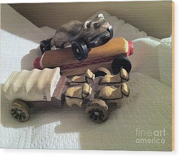 Pinewood Derby Art Wood Print by Mary Ellen Anderson