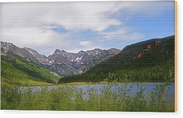 Piney Lake In Upper Vail Wood Print