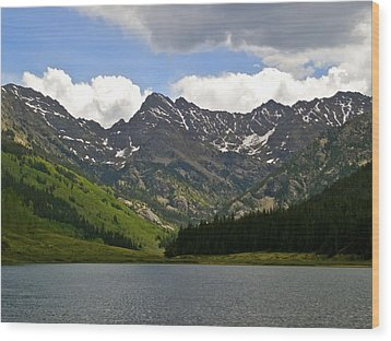 Piney Lake Vail Colorado Wood Print