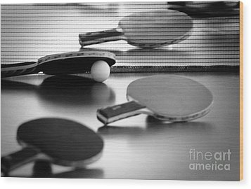 Wood Print featuring the pyrography Ping-pong by Evgeniy Lankin