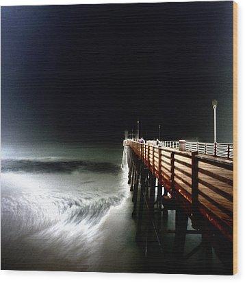 Pinhole Oceanside Pier Wood Print