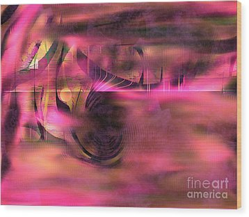 Pink Abstract Nature Wood Print by Yul Olaivar