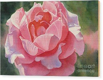 Pink And Orange Rose Blossom Wood Print by Sharon Freeman