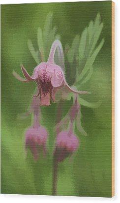 Pink Angel Wood Print