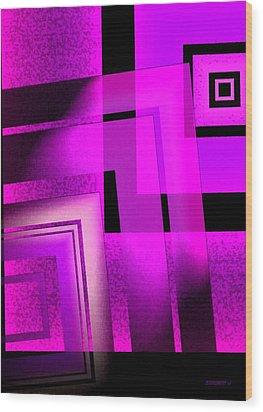 Pink Art Design In Digital Art Wood Print by Mario Perez