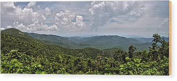 Wood Print featuring the photograph Pink Bed On Blue Ridge Parkway by Allen Carroll