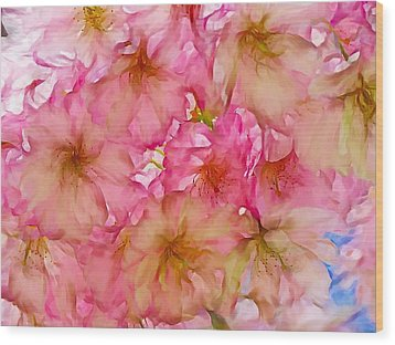Wood Print featuring the digital art Pink Blossom by Lilia D