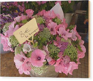 Pink Bouquet Wood Print by Carla Parris