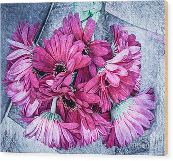 Pink Bouquet Wood Print by Susan Cole Kelly Impressions