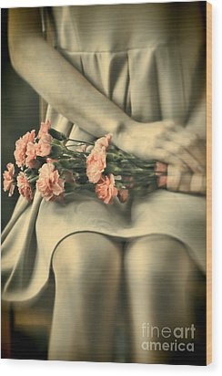 Wood Print featuring the photograph Pink Carnations by Craig B