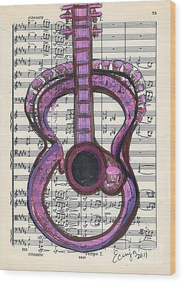 Pink Classical Funk #75 Wood Print by Ecinja Art Works