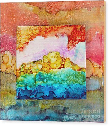 Pink Clouds Wood Print by Alene Sirott-Cope