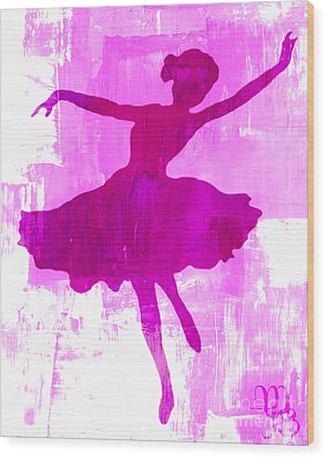 Pink Dancer Wood Print by Mindy Bench