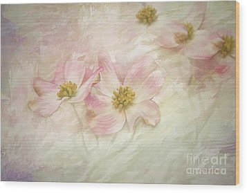 Pink Dogwood Wood Print