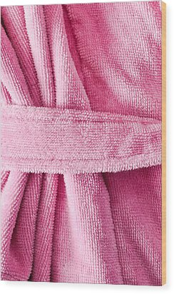 Pink Dressing Gown Wood Print by Tom Gowanlock