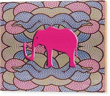 Pink Elephant Wood Print by Patrick J Murphy