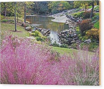 Pink Fall Wood Print