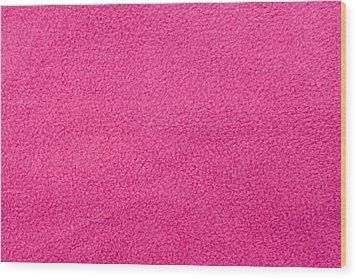 Pink Fleece Wood Print by Tom Gowanlock