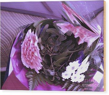 Pink Flowers Wood Print by Gabriele Mueller