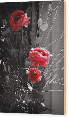 Pink Flowers Wood Print by Kara  Stewart