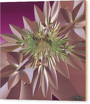 Wood Print featuring the digital art Pink Flowers by Melissa Messick