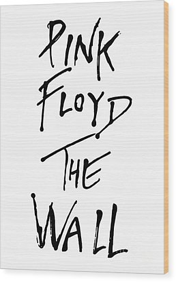 Pink Floyd No.01 Wood Print by Caio Caldas