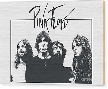 Pink Floyd No.05 Wood Print by Caio Caldas