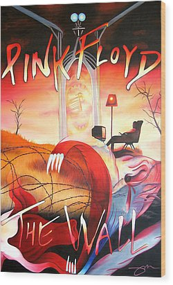 Pink Floyd The Wall Wood Print