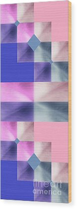 Wood Print featuring the digital art Pink Glow 2 by Ann Calvo