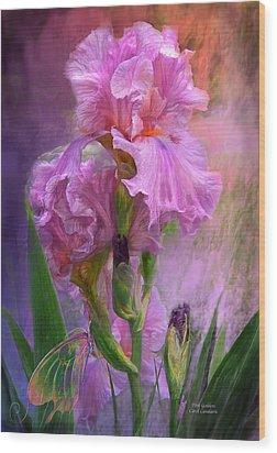 Pink Goddess Wood Print by Carol Cavalaris