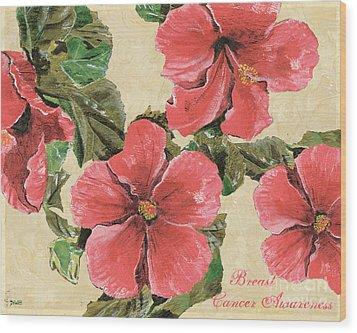 Pink Hibiscus Wood Print by Debbie DeWitt