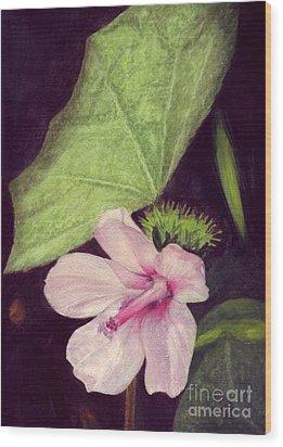 Pink Hibiscus Wood Print by Mukta Gupta