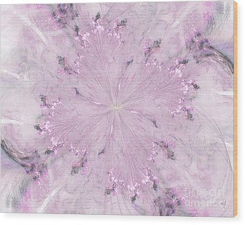 Wood Print featuring the digital art Pink Hibiscus by Victoria Harrington