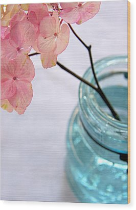 Wood Print featuring the photograph Pink Hydrangea No. 1 by Brooke T Ryan